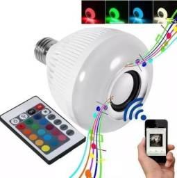 Lampada Luz Led Rgb Caixa Som Bluetooth + Controle Remoto(entregamos via motoboy)