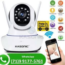 Camera Ip Wireless Hd 720p Noturna Sensor Infravermelho Wifi Nao Precisa DVR (NOVO)