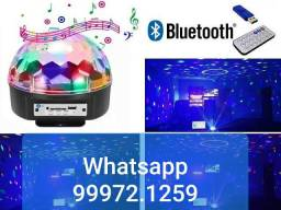 Globo de Luz Led Musical Usb Bluetooth (Novo, aceito cartão)