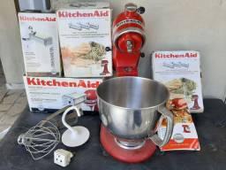 Batedeira KitchenAid c/ acessórios ( espaguete fino e grosso ,fetutine e inhoque)
