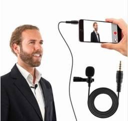 Microfone De Lapela Celular Profissional Youtuber Stereo