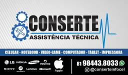 Assistência técnica celular notebook vídeo game computador tablet impressora nobreak