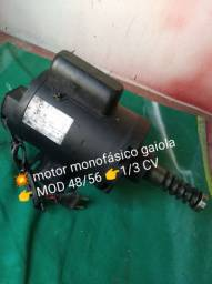 Motor monofásico elétrico gaiola