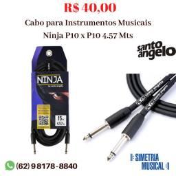Cabo P10 x P10 para Instrumentos Musicais Santo Angelo - 4.57 Metros
