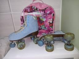 Patins 4 rodas Oxer - Sweet Retro Suede + Kit de proteção Fila