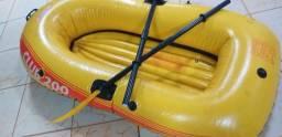 Bote Explorer Inflável 200 Intex Até 95kg Par Remos