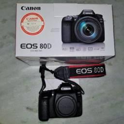 Canon 80D Corpo - 3024 clicks, muito NOVA