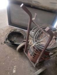 Máquina de Solda antiga funcionando