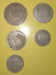 Moedas antigas 1889 1921 1923 1924 1938