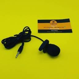 Microfone de Lapela ( Celular ) Plug P2 ( 3 Vias ) 1,5M