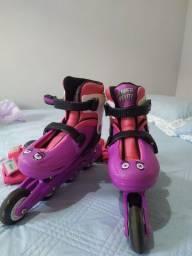 Patins infantil rosa