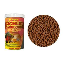 Tropical Cichlid Carnivore Medium Pellet 180g P/ Ciclídeos
