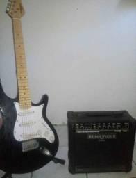 guitarra mais caixa  380.00