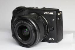 Câmera Canon M3 Seminova + Lente 15-45mm STM