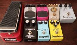 Trocas Pedal Guitarra Boss Ibanez Drive Delay Distortion Fuzz Vibe Wah