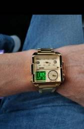 Skmei relógio masculino de luxo, relógio digital de quartzo, luxuoso,  à prova d'água.