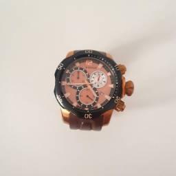 Relógio Magnum MA33755 NOVO - Marrom com Dourado