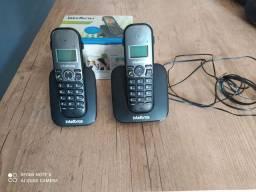 TELEFONE + RAMAL SEM FIO INTELBRAS ( Usado)