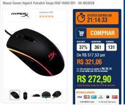 Mouse gamer Hyperx RGB 16000 dpi - NOVO