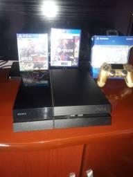 PS4 FAT 500gb com FIFA 21 e pes19