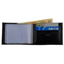 Carteira Slim Masculina / Carteira Fina com Porta-Cartão
