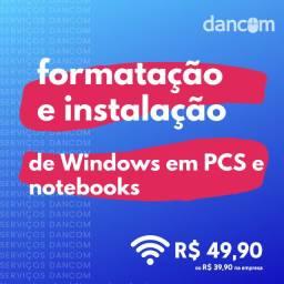 Formatação e Instalação de Windows em PCs/Notebooks na Cidade Operária