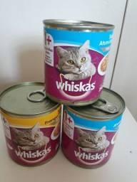 Vendo Ração Umida Whiskas lata patê 290 gr.