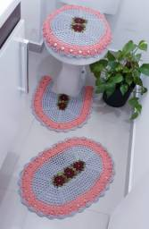 Jogo de banheiro em crochê 3 peças pronta entrega