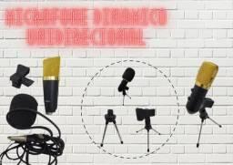 Microfone Condensador USB com Suporte