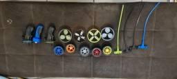 Lançador de discos e pneus fly wheels
