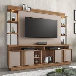 """Estante Home R648, 2,10 M, LED, Espelhos decorativos, TV até 65"""". Entrega Rápida"""