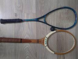 Raquete tênis retrô e Squash grafite