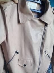 Jaqueta de couro sintetico