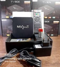 TV BOX MXQ PRÓ 4K /4GB/64R /ANDROID 10/ WIFI 2,4 /5G( GRATIS 1 PAR DE PILHAS)