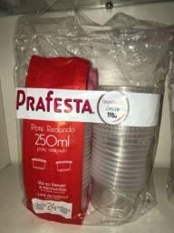 Pote redondo plástico recipiente