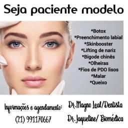 Botox, lifting de nariz, harmonização facial,preenchimento labial.