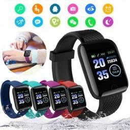 116plus Smart Watch Com Monitor De Frequência Cardíaca / Pressão Sanguínea