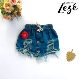 Saia Jeans Destroyed - Saia Jeans Infantil - Mini Blogueirinha