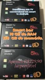 TV box de 16 gigas RAM e 128 GB de memória