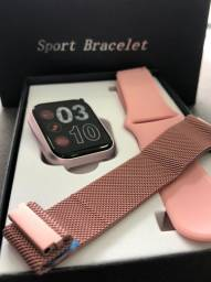 Relógio Smartwatch P80 Com Garantia-(Lojas Wiki)