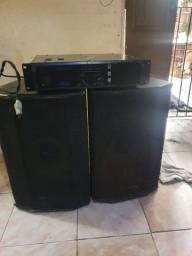 2 caixas Oneal (passivos) + amplificador oneal.