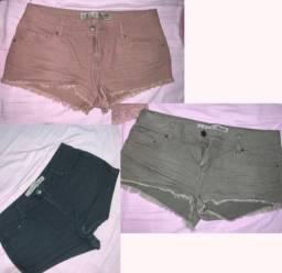 Shorts os 3 por R$30