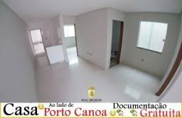 Casa 02 Quartos, Próx. Porto Canoa Documentação Grátis