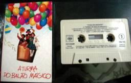 3 Fitas Cassetes - A Turma do Balão Mágico - usadas