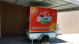Vendo carrinho com máquina de suco de laranja