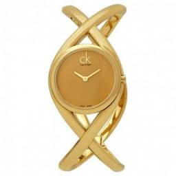 Relógio Feminino Calvin Klein Enlace Ouro Dial Ladies Watch - Original - Importado USA