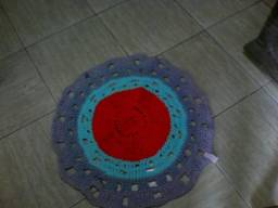 Tapetes em crochê de fio de malha