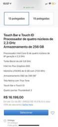 Mac book pro com touch bar BARATO