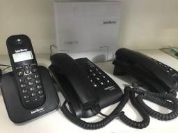 Central Pabx Conecta Intelbras com 3 Aparelhos Telefônico