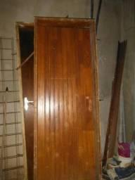 Porta Madeira Maciça 210x72 com Batente 17cm s/fechadura Lado Esquerdo
